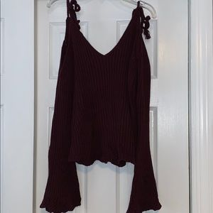 L.A Hearts Sweater Cropped Top
